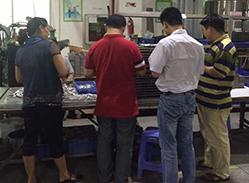 台湾客户到ZCMIM生产厂线参观